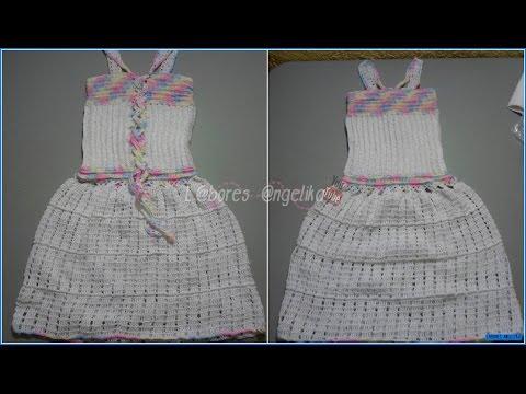 Parte 1 De 3 Vestido A Crochet Para Niña Tipo Corset