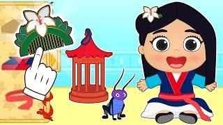 BABY LILY Dresses up as Disney Princess Mulan 💥 Games and Cartoons for Kids