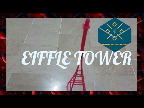HOW TO MAKE A EIFFEL TOWER || VERY SIMPLE METHOD | WITH STRAWS