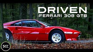 FERRARI 308 GTB 1980 - Full test drive in top gear - V8 engine sound | SCC TV