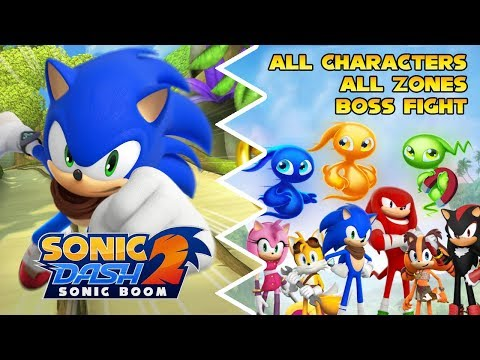 Sonic Dash 2: Sonic Boom - All Characters | All Zones | Boss Fight - Summer