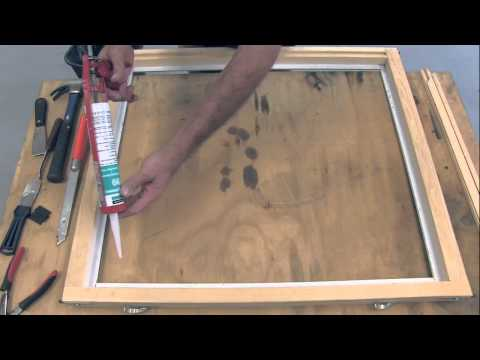 How to deglaze and reglaze Quaker Brighton (wood) window -2