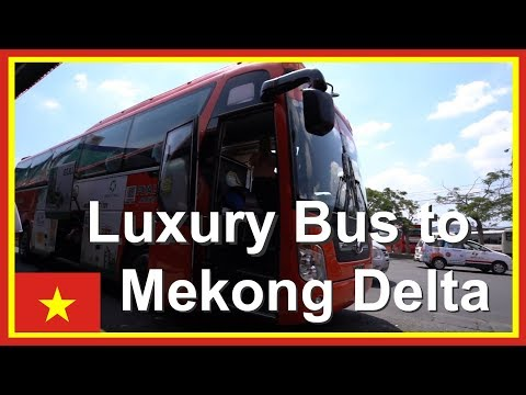 VIETNAM LUXURY BUS Saigon to Can Tho for Mekong Delta | Vietnam Travel Video 5