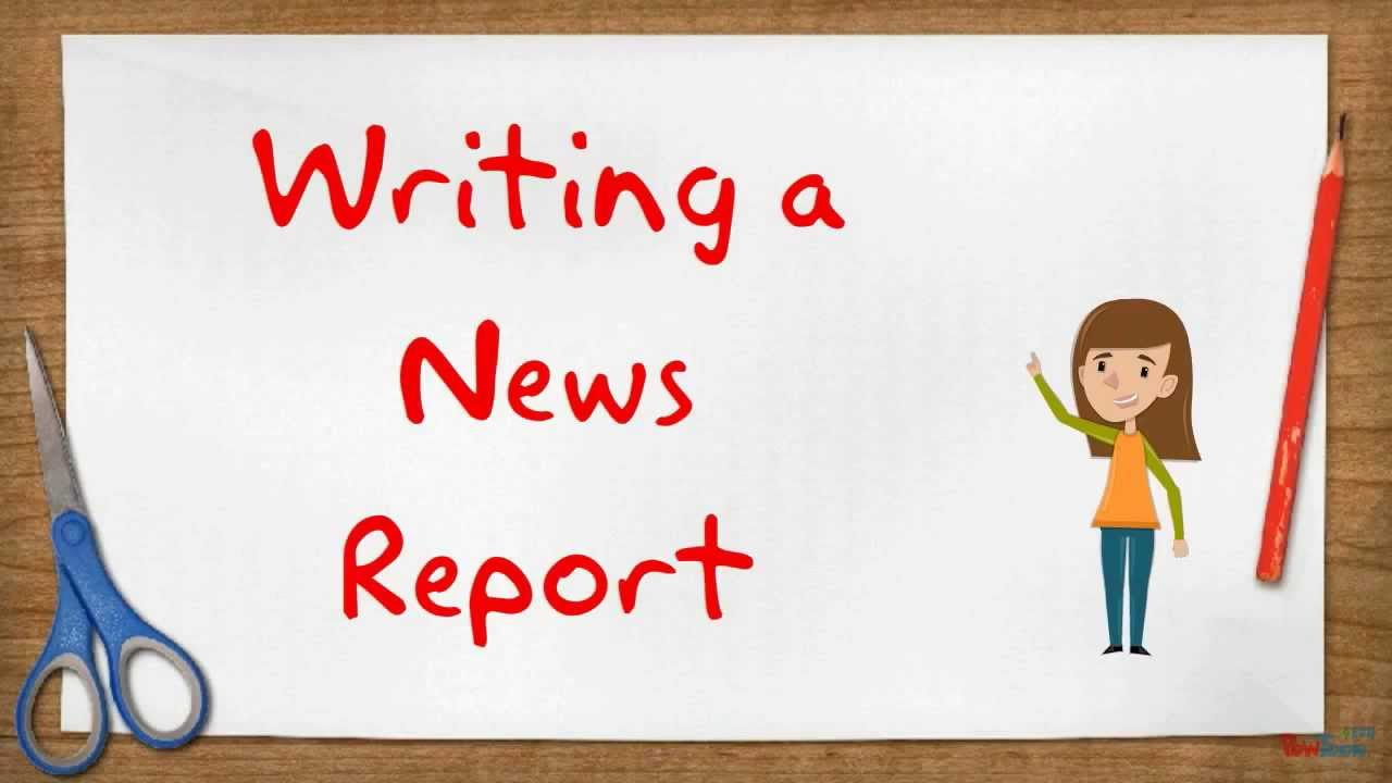 writing a news report