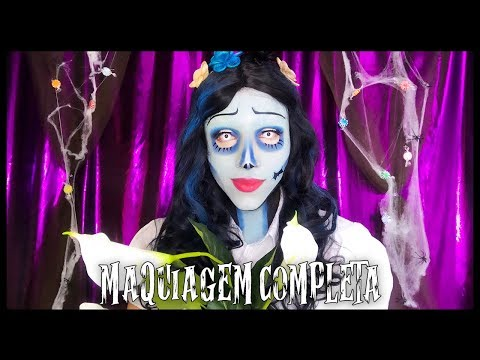 TUTORIAL MAQUIAGEM DE HALLOWEEN: A NOIVA CADÁVER! CORPSE BRIDE MAKEUP thumbnail