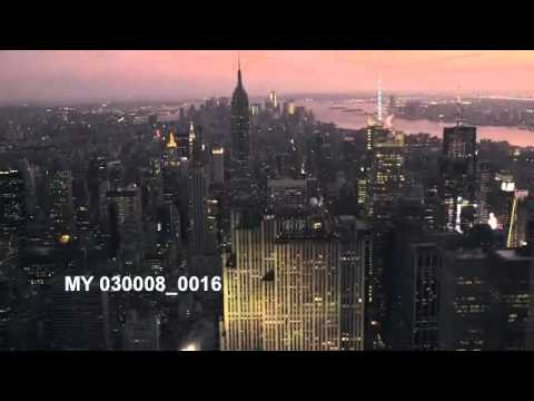 Stock Footage - NEW YORK, GE BUILDING, MANHATTAN, NIGHT, AERIAL