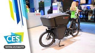 Trên tay xe đạp điện Bosch dành cho anh em shipper