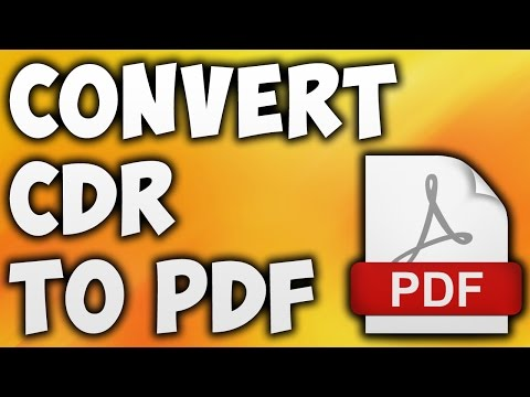 How To Convert CDR TO PDF Online - Best CDR TO PDF Converter