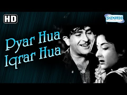 Pyar Hua Iqrar Hua - Best Monsoon Song - Raj Kapoor & Nargis - Shree 420 - Popular Romantic Song