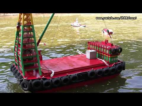 香港遙控貨櫃躉船 Hong Kong Unique RC Boat Vessel - Work Barge