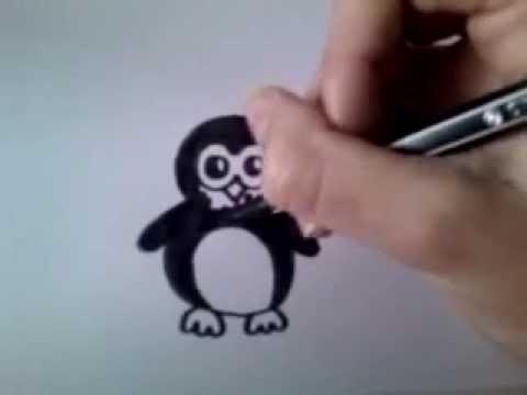 Kleurplaten Dieren Pinguin.Cartoon Pinguin How To Draw 4 Youtube