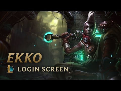 Ekko, the Boy Who Shattered Time | Login Screen - League of Legends