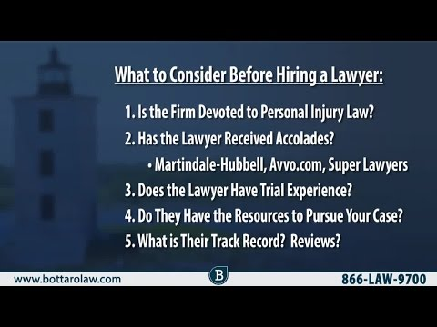 How To Choose The Right Lawyer For Your Personal Injury Case – RI Injury Attorney Mike Bottaro