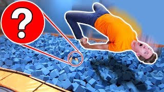 WORST HIDE AND SEEK SPOT in TRAMPOLINE PARK vs OBSTACLE COURSE CHALLENGE!