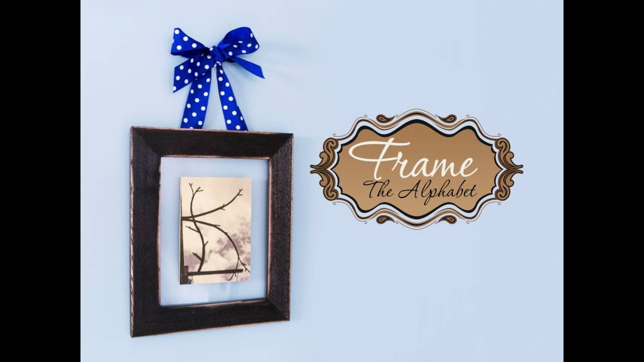 DIY - How to Create Standup Letter Floating Frames - YouTube