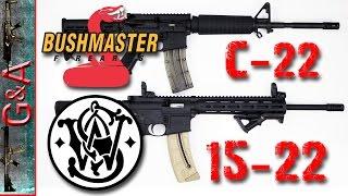 Smith & Wesson M&P 15-22 VS BushMaster C-22 22lr Rifles