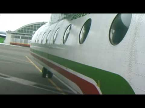 THE SIGHT & THE SOUND 2/4 : Balkan Bulgarian AN-24 LZ-ANC inflight documentary from Sofia to Varna