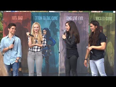Descendants cast interview during Fan Event at Downtown Disney
