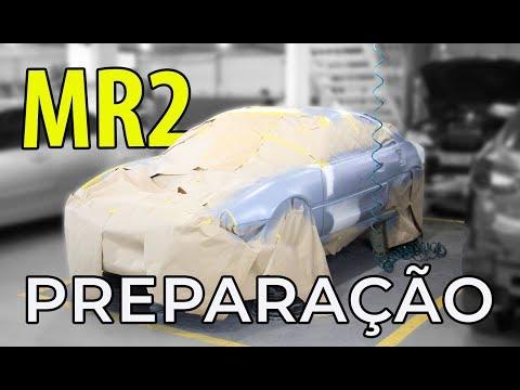 TOYOTA MR2: PREPARAÇÃO DE PINTURA, LIXAMENTO SEM PÓ MIRKA E +