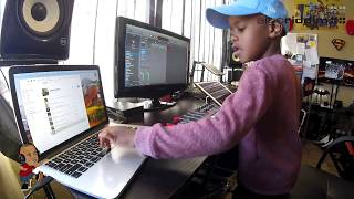 Download Watch DJ Arch Jnr Create a Happy Birthday Song Using Logic Pro  (6yrs old) Mp3 and Videos