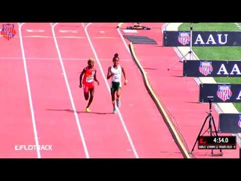 Cha'iel Johnson Drops Monster Kick To Win AAU Junior Olympic Games 1500m
