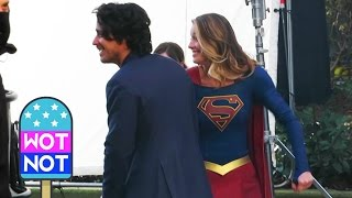 Supergirl Actress Melissa Benoist Dances In Between Takes!