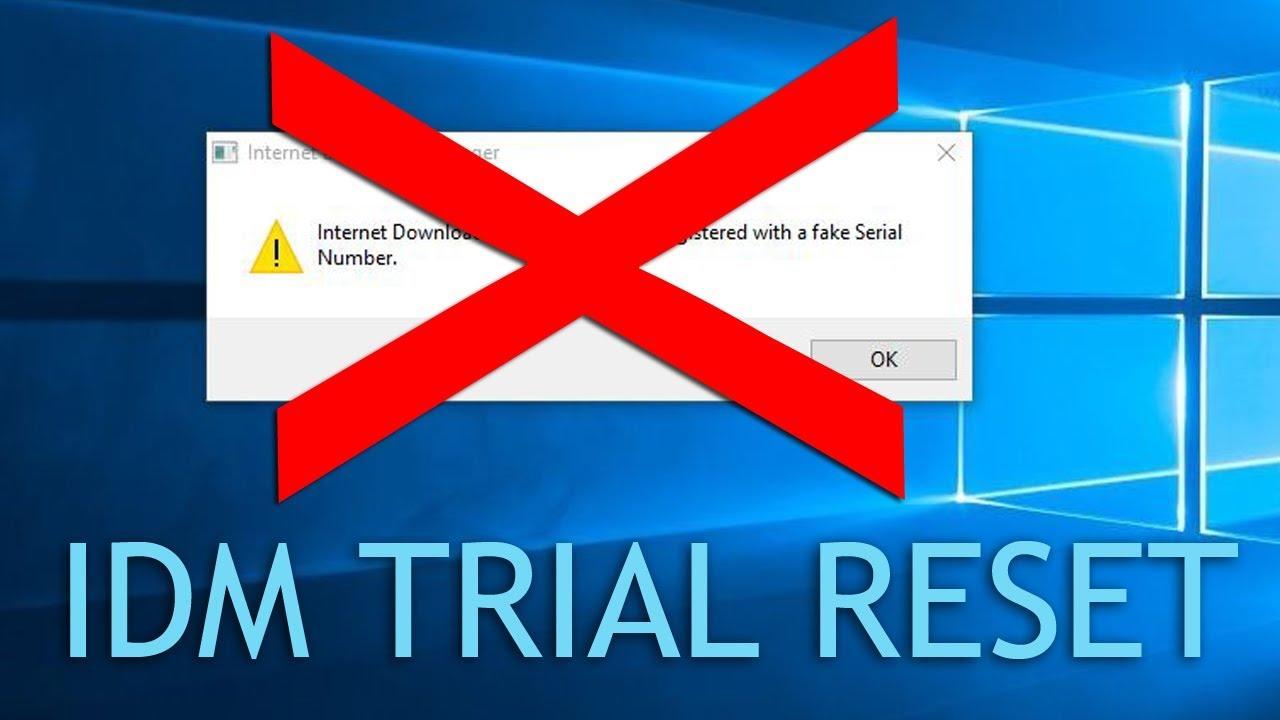 IDM Reset Trial (No More Fake Serial Number Error)