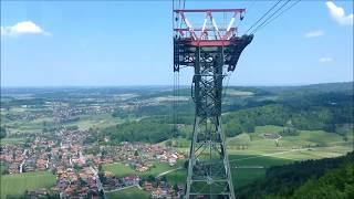 Talfahrt vom Hochfelln: Mittelstation bis Talstation
