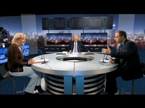 BFMTV 2012 - Jean-François Copé face à Marine Le Pen
