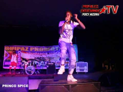 PRINCO SPICE performing live at Zim Dancehall Breakthrough
