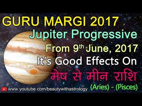 Guru Margi | Jupiter Progressive from 9th June, 2017 | It's Good Effects On Mesh to Meen Rashi
