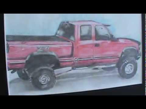 drawing of my 1997 chevy z71 silverado drawing+live truck ...