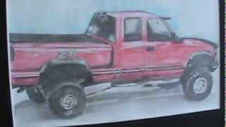 drawing of my 1997 chevy z71 silverado drawing+live truck
