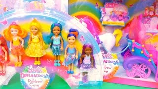 Barbie Dreamtopia ! Toys and Dolls Fun with Chelsea Visiting Rainbow Princesses