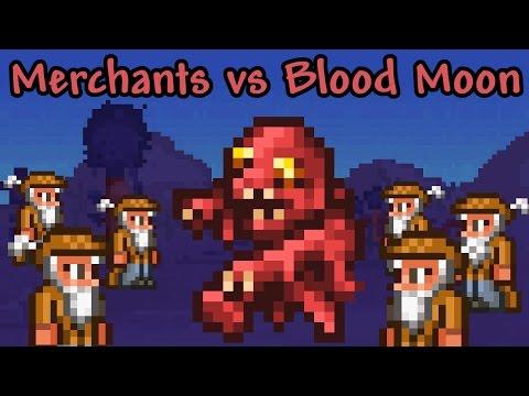 [Terraria] 100 Merchants vs Blood Moon
