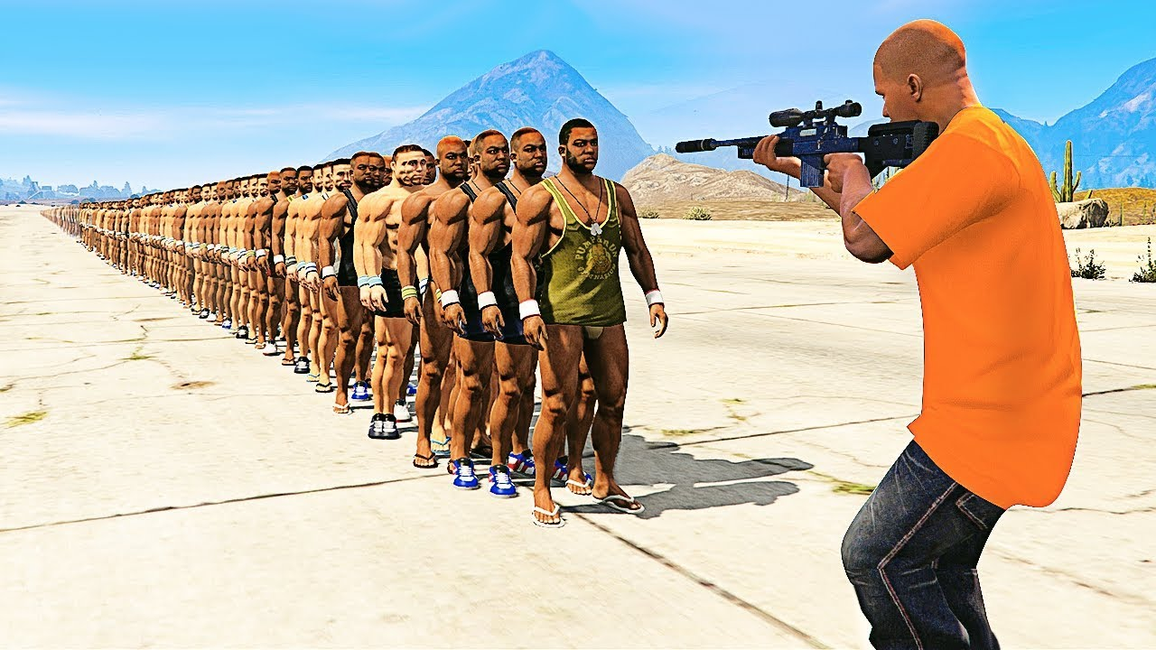 Download HOW MANY PEOPLE Can 1 BULLET Kill in GTA 5