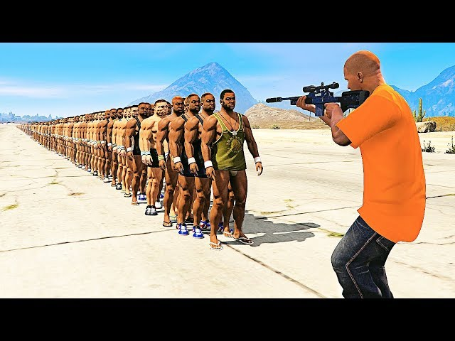 HOW MANY PEOPLE Can 1 BULLET Kill in GTA 5