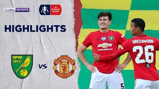 Norwich 1-2 Man United | Fa Cup 19/20 Match Highlights