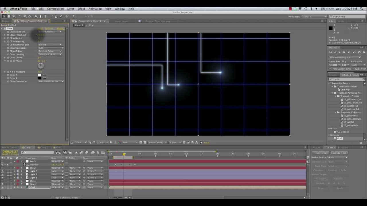 Line Art In After Effects : Animated tron lines tutorial for after effects youtube