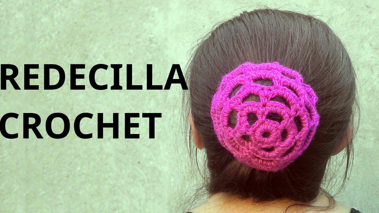 Redecilla para rodete del cabello en tejido crochet tutorial paso a paso. , YouTube