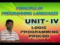 L14: Principle of Programming language,Logic Programming lecture Prolog tutorial Hindi by Univesity