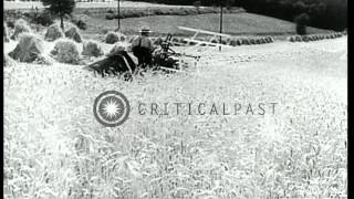 Farm machinery made with steel in Germany, and various machines and transportatio...HD Stock Footage
