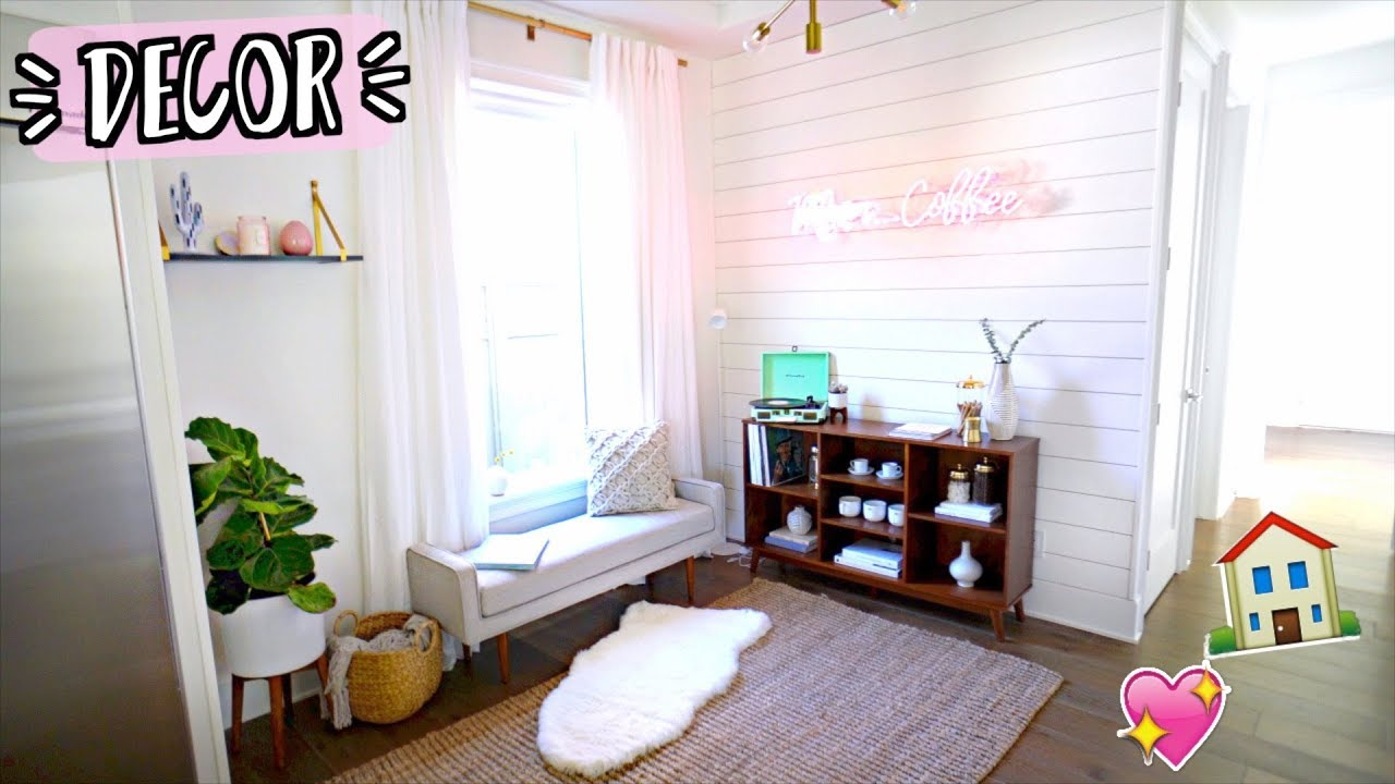 Huge room makeover new home decor coffee corner for New home decoration items