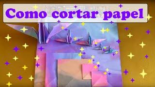 COMO CORTAR UMA FOLHA DE PAPEL OFÍCIO EM 5 QUADRADOS