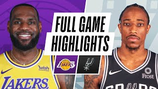 Game Recap: Lakers 109, Spurs 103