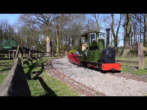 worden park leyland steam train, miniature railway and playground