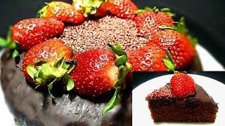 EGGLESS CHOCOLATE CAKE WITHOUT OVEN BY FOOD VARIETY