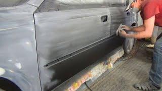 Подготовка к полной покраске авто 7. Выравниватель, грунтошкуритель.