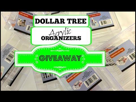 GIVEAWAY   DOLLAR TREE ACRYLIC ORGANIZERS