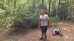 Push lawn mower brush cutter hack